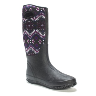 Muk Luks Women's Oxford Karen Rainboot