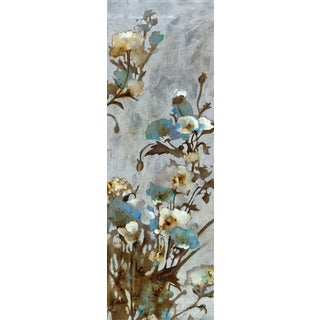 Portfolio Canvas Decor Citrine 'Floral in Silver I' Framed Canvas Wall Art (Set of 2)