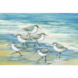 Portfolio Canvas Decor Paul Brent 'Surfside Sandpipers' Framed Canvas Wall Art