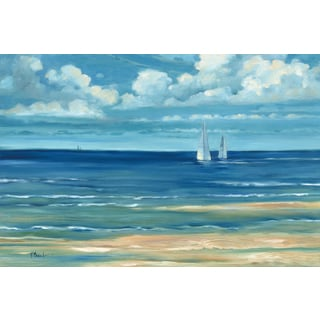 Portfolio Canvas Decor Paul Brent 'Summerset Sailboats' Framed Canvas Wall Art