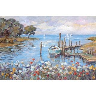 Portfolio Canvas Decor Michael Longo 'Meadow Dock' Framed Canvas Wall Art