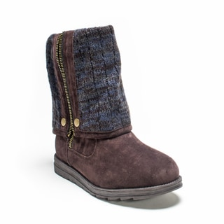 Muk Luks Women's Dark Brown Demi Boot