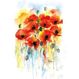 Portfolio Canvas Decor Rachel McNaughton 'Poppy Flourish' Framed Canvas Wall Art
