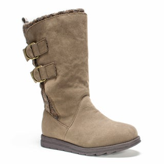 Muk Luks Women's Dark Beige Luna Boot