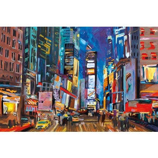 Portfolio Canvas Decor Frank Parson 'New York Evening' Framed Canvas Wall Art