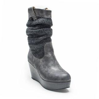 Muk Luks Women's Charcoal Quinn Boot
