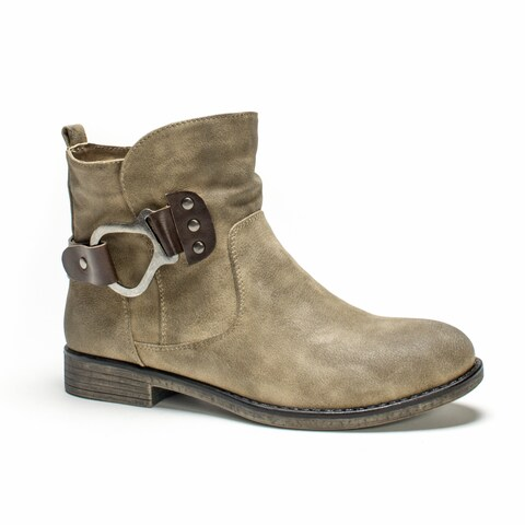 Muk Luks Women's Hayden Beige Medium Boots