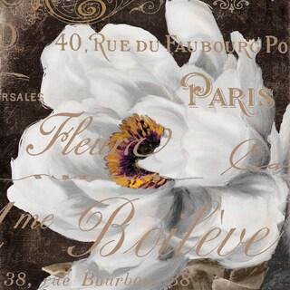 Portfolio Canvas Decor Mindy Sommers 'Fleurs Blanc III' Framed Canvas Wall Art