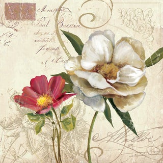 Portfolio Canvas Decor E. Franklin 'Fleurs de Paris 2' Framed Canvas Wall Art