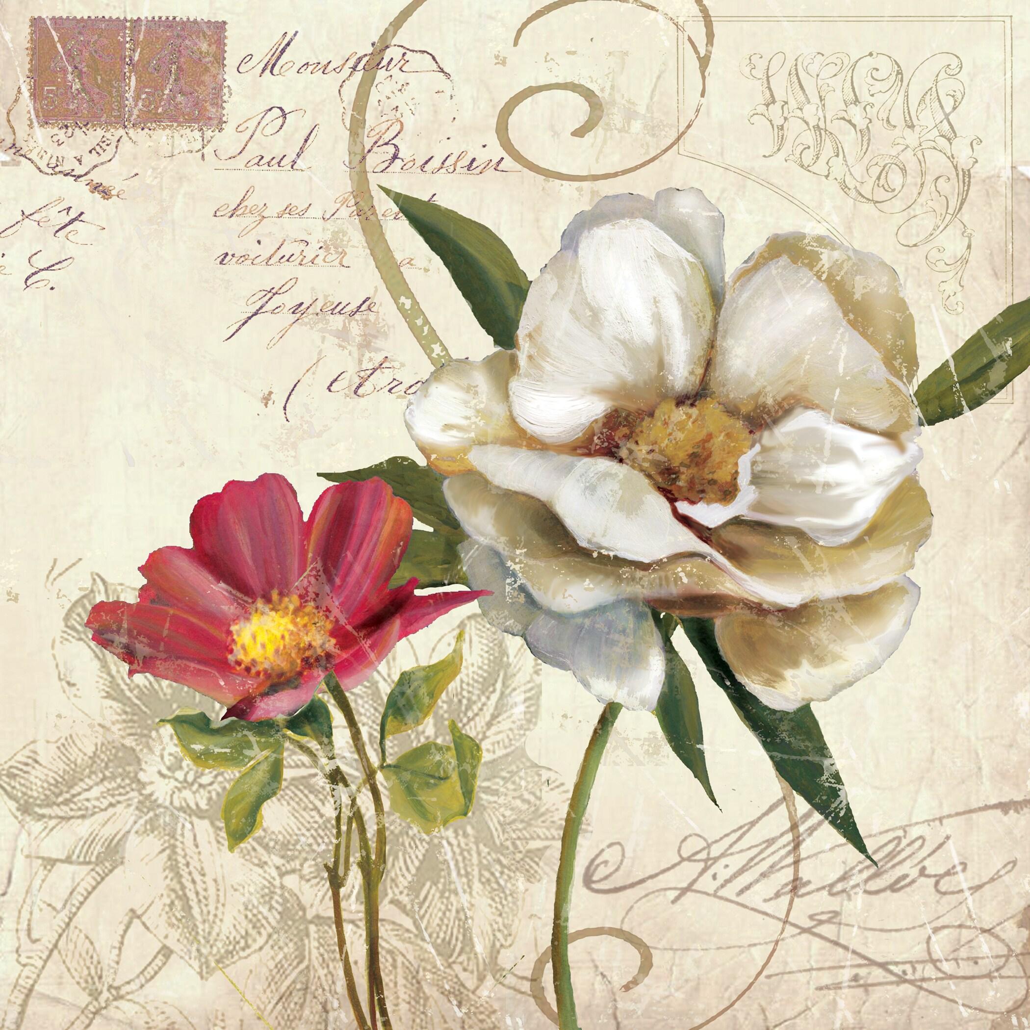 Franklin Wall Art Portfolio Canvas Decor Fleurs De Paris 1 by E 24 x 24
