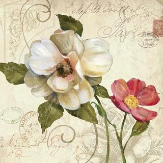 Portfolio Canvas Decor E. Franklin 'Fleurs de Paris 1' Framed Canvas Wall Art