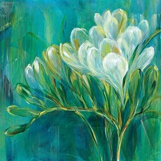 Portfolio Canvas Decor Carson 'Freesia Blues I' Framed Canvas Wall Art