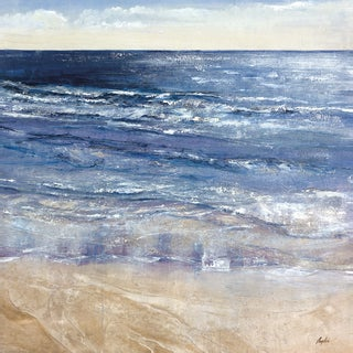 Portfolio Canvas Decor Angellini 'Sapphire Ocean square' Framed Canvas Wall Art