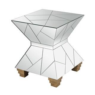 LS Diamond Home Mirrored Mosaic Hourglass Foot Stool