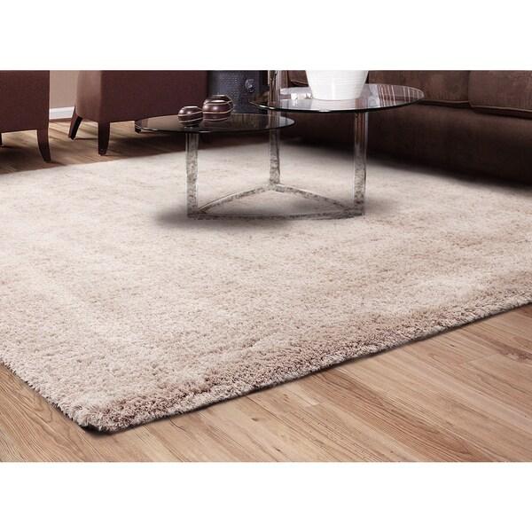 "Gramercy Linen Shag Rug (5'3 x 7'5"")"
