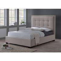 LuXeo Montecito Queen Size Upholstered Bed in Khaki Fabric