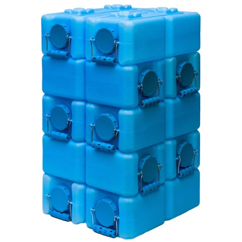 WaterBrick Blue Polyethylene 3.5-gallon BPA-free Water Storage Container (Set of 10)