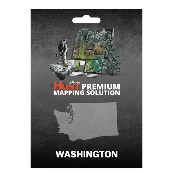 onX Hunt Washington: Public/Private Land Ownership 24k Topo Maps for Garmin GPS Units for Smartphone and Computer