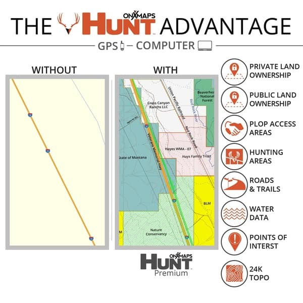 Map Of Arizona Land Ownership.Shop Onx Hunt Arizona Public Private Land Ownership 24k Topo Maps