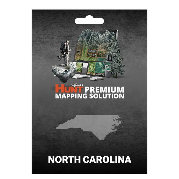 onX Hunt North Carolina: Public/Private Land Ownership 24k Topo Maps for Garmin GPS Units for Smartphone and Computer