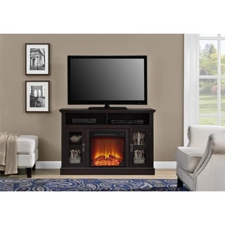 Altra Espresso Chicago Fireplace TV Console