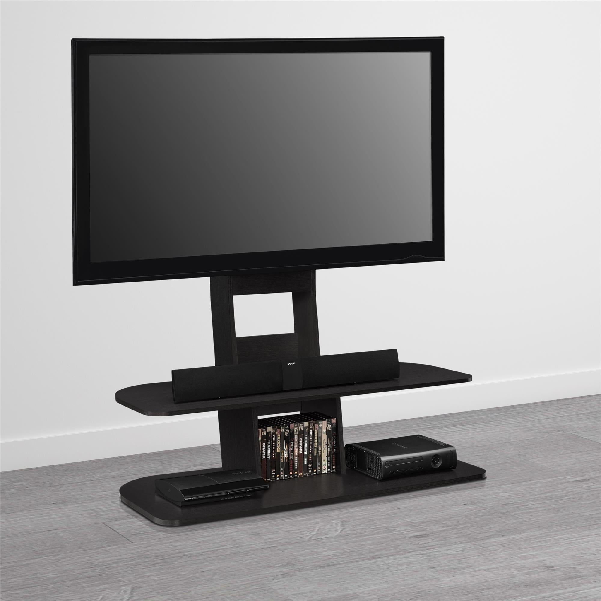 Shop Avenue Greene Crossfield 65 Inch Black Tv Stand With Mount