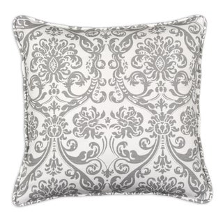Abigail Storm Twill 19-inch Self-corded Pillow