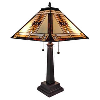 Amora Lighting Tiffany Style Mission Table Lamp|https://ak1.ostkcdn.com/images/products/10398765/P17501269.jpg?impolicy=medium