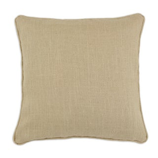 Burlap Natural 19-inch Self-corded Pillow