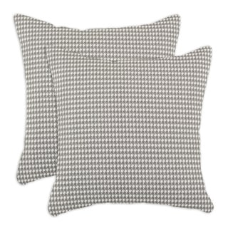 Houndstooth Storm 17-inch Pillow (Set of 2)