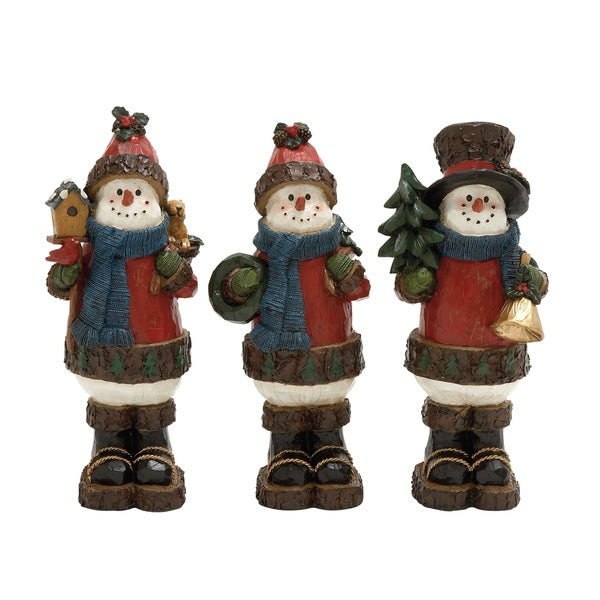 13-inch Outdoor Decorative Snowman Display (Set of 3). Opens flyout.