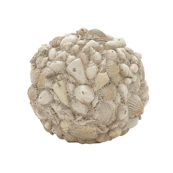 Copper Grove Sharbot 7-inch Shell Ball Decor