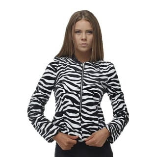TOV Women's Stripped Zebra Jacket