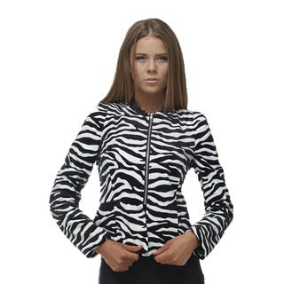 TOV Women's Stripped Zebra Jacket