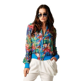 TOV Women's Blue Floral Jacket