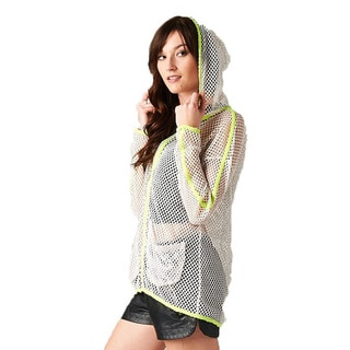 TOV Women's Hi-lite White Mesh Jacket