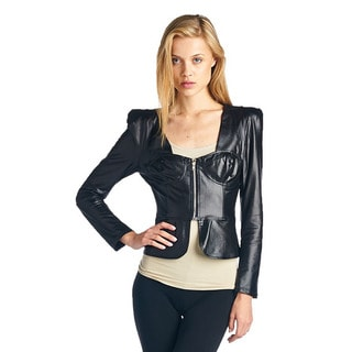 TOV Women's Seductive Pleatherette Top