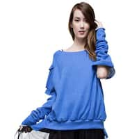 TOV Women's Blue Arms Out Sweater