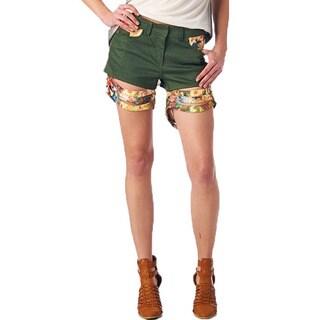 TOV Women's Floral Short Shorts