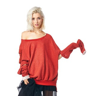 TOV Women's Red Arms Out Sweater