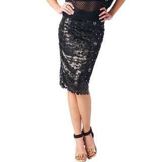 TOV Women's Holy Printed Skirt