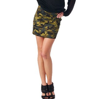 TOV Women's Camo Mini Skirt