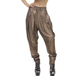 TOV Women's Metallic Peplum Trouser