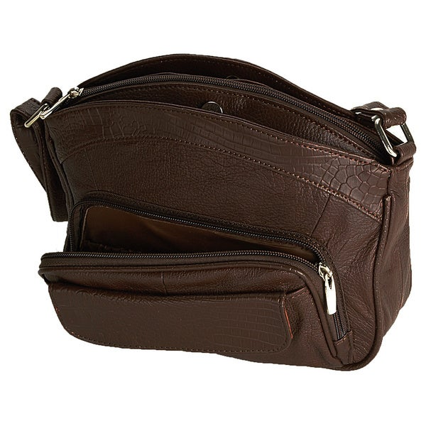 Travelon Small Leather Shoulder Bag With Strap 71