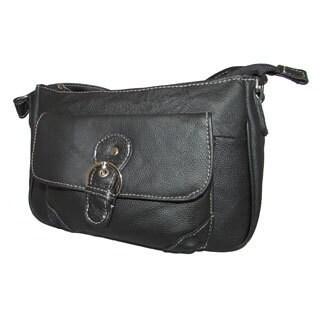 Continental Leather Small Crossbody Handbag with Adjustable Shoulder Strap - M