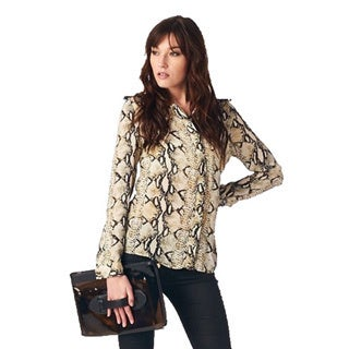 TOV Women's Flirty Animal Print Blouse