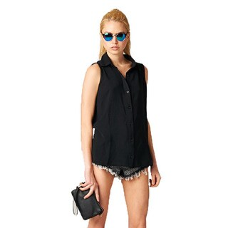 TOV Women's Debbie Black Fringe Top