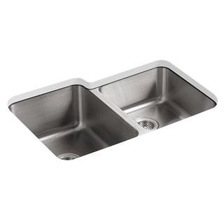 Kohler Undertone Undercounter Stainless Steel 0-Hole Double Bowl Kitchen Sink