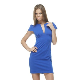TOV Women's Blue 'Shift this Way' V-neck Dress