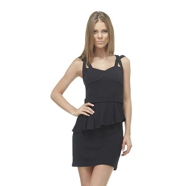 Shop Tov Womens Black Mini Peplum Dress Free Shipping Today